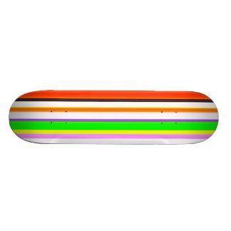 Colourful STRIPES Pattern Pastels Girly Spring Tex Skate Board Decks