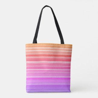 Colourful stripes tote bag