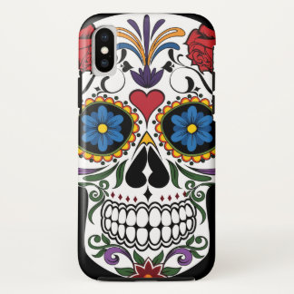 Colourful Sugar Skull Case-Mate Tough iPhone X