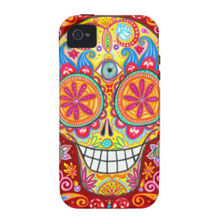 Colourful Sugar Skull iPhone 4/4S Vibe Case Vibe iPhone 4 Covers