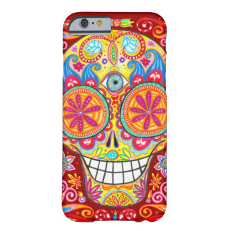 Colourful Sugar Skull iPhone 6 case by Barely There iPhone 6 Case
