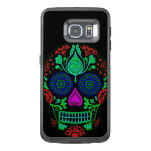 Colourful Sugar Skull Samsung Galaxy S6 Edge Case