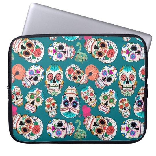 Colourful Sugar Skulls Laptop Sleeve