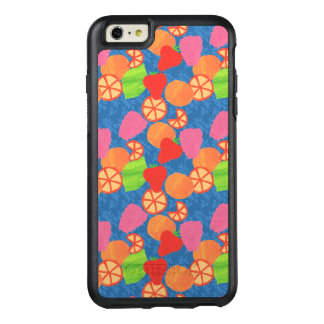 Colourful Summer Fruits Pattern on Deep Blue OtterBox iPhone 6/6s Plus Case