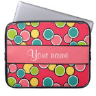 Colourful Summer Polka Dots Personalised Laptop Sleeve