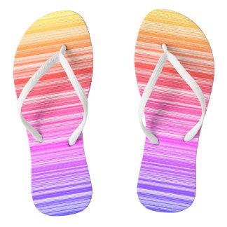 Colourful summer thongs