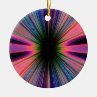 Colourful sunburst rays ceramic ornament