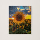 Colourful Sunflowers in a Field Jigsaw Puzzle