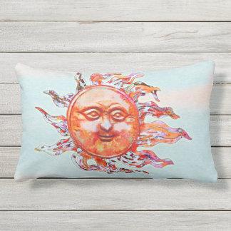 Colourful Sunny Summer Breeze Lumbar Pillow