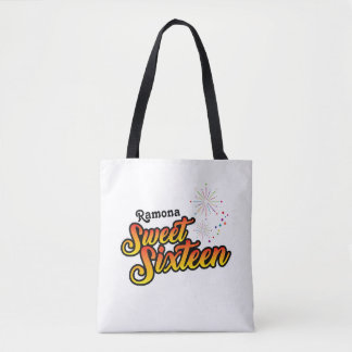 Colourful Sweet Sixteen Tote Bag