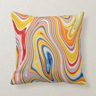 Colourful Swirl Effect Throw Pillow