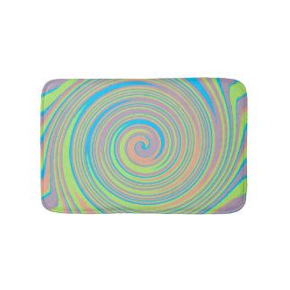 Colourful swirl pattern bath mats