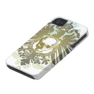 Colourful swirls skull crest cool blackberry bold iPhone 4 Case-Mate case