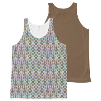 Colourful Tanktop Waves All-Over Print Singlet