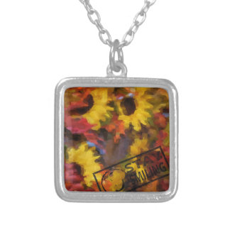 Colourful Thanksgiving Silver Plated Necklace