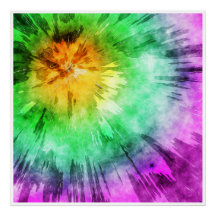Colourful Tie Dye Design Poster