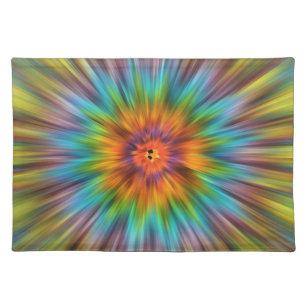 Colourful Tie Dye Starburst Placemat