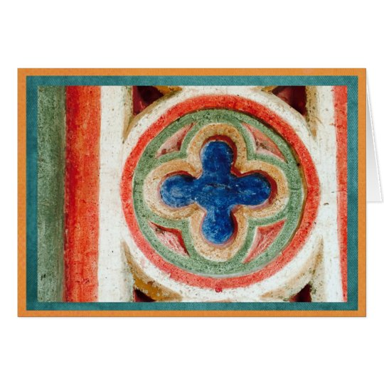 Colourful tile work from Toledo, Spain Card
