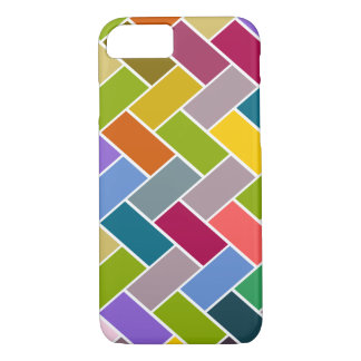 Colourful Tiled Mosaic Pattern iPhone 7 Case