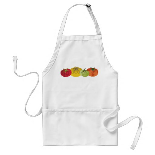 colourful tomatoes kitchen cooking apron