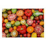 Colourful Tomatoes Poster