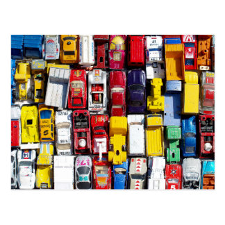 Colourful Toy Cars Postcard