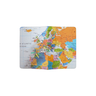 Colourful Travel Map Passport Holder