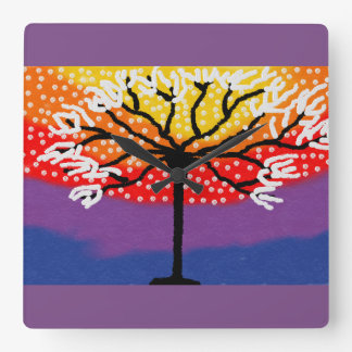 Colourful tree clock