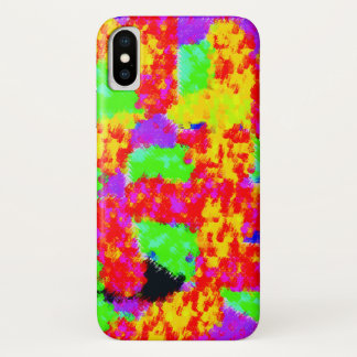 colourful trendy Abstract iPhone X Case