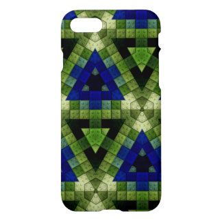Colourful triangle block pattern iPhone 7 case