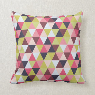 Colourful Triangle Pillow (Mostly Pinks & Purples)