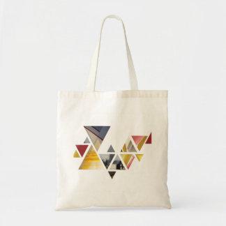 Colourful triangles tote bag