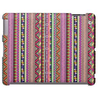 Colourful tribal print ipad case