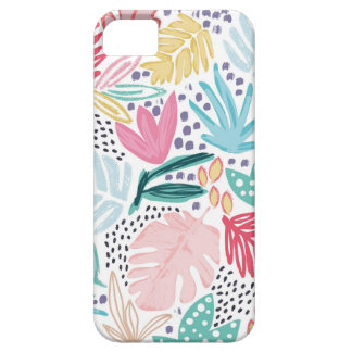 Colourful Tropical Collage Patterned Phone Case