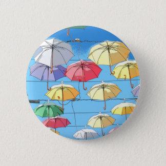 Colourful Umbrellas 6 Cm Round Badge