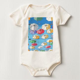 Colourful Umbrellas Baby Bodysuit