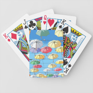Colourful Umbrellas Bicycle Playing Cards