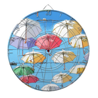 Colourful Umbrellas Dartboard