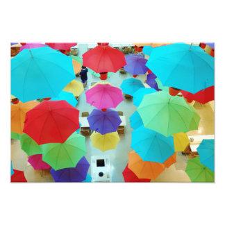 Colourful Umbrellas Photographic Print