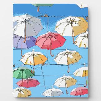 Colourful Umbrellas Plaque