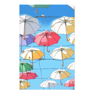 Colourful Umbrellas Stationery