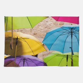 Colourful Umbrellas Tea Towel