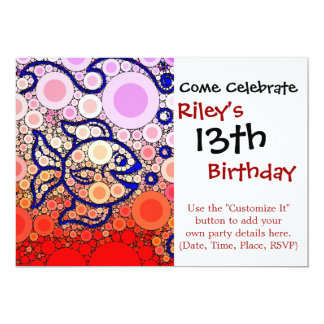 Colourful Under the Sea Bubbly Fish Swimming Card