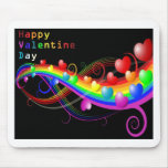 colourful valentine mouse pad
