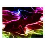 Colourful vapours abstract art post cards