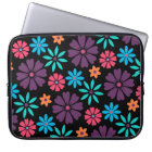 Colourful Vector Flower Pattern Laptop Sleeve