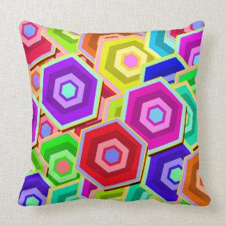 Colourful Vector Hexagon Cushion