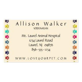 Colourful Veterinarian Business Card