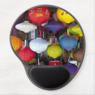 Colourful Vietnamese lanterns Gel Mouse Pad
