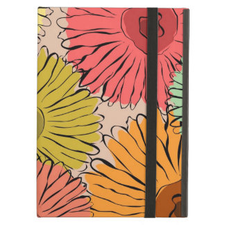 Colourful vintage abstract sunflower iPad air case